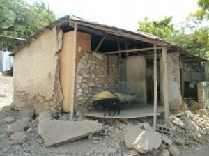 Ramone's house destroyed by earthquake