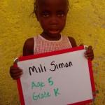 Mili Simon-age5-gradeK